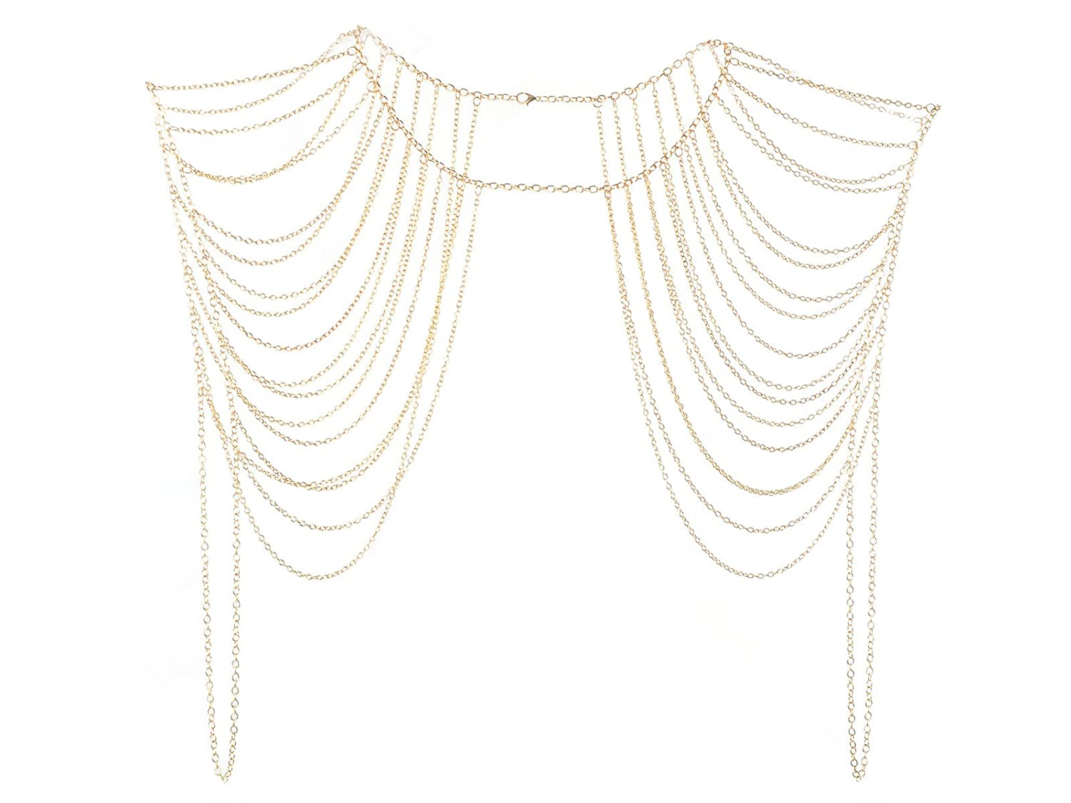 Imixlot Tassels Link Body Shoulder Crossover Harness Waist Belly Body Chain Ltd GE10019