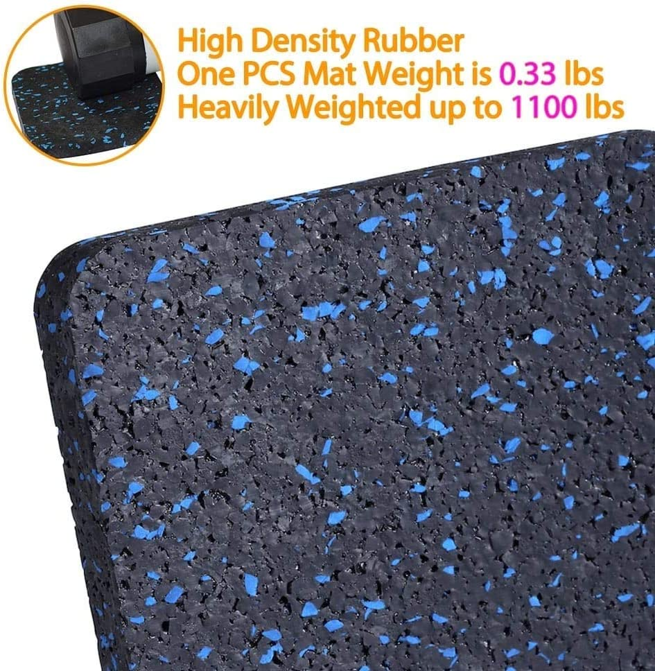 Color : 4 Pieces /Équipement dexercice Mat avec Haute densit/é en Caoutchouc Fenfen-didian Tapis de Course Tapis