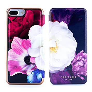 los angeles 7d58b 5e36d Ted Baker Official SS17 Fashion Mirror Folio Case for iPhone 8 Plus / 7  Plus, Protective Wallet iPhone 8 Plus / 7 Plus Cover for Professional Women  - ...