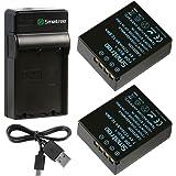 Smatree OLYMPUS BLH-1互換バッテリー2個 + 充電器 OLYMPUS OM-D E-M1 Mark II 対応 日本語説明書付き