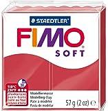 Staedtler 8020-26 - Fimo Soft Normalblock, 57 g, kirschrot