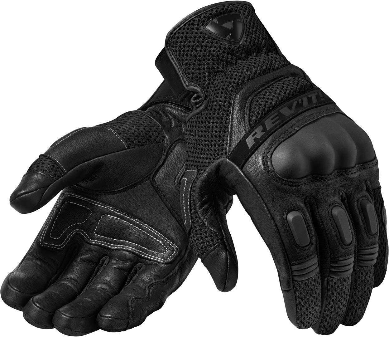 FGS139-1010-L Rev It Dirt 3 Leather Motorcycle Gloves L Black
