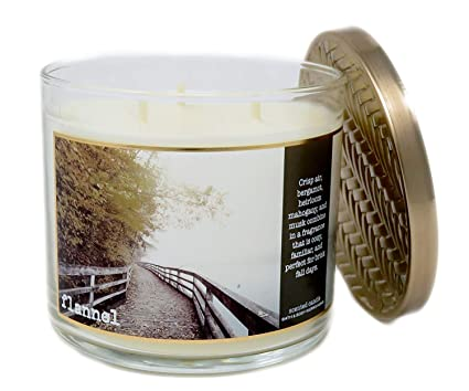 Amazoncom Bath Body Works Home Flannel Scented 3 Wick 145 Ounce