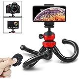 Handy Stativ, Bovon Flexibel Mini Kamera Stativ mit Bluetooth-Fernbedienung, Octopus Dreibein-Stative Fotostativ Ständer iPhone Stativ für iPhone XS Max/XS/XR/X, Galaxy Note 9 und Gopro(Schwarz)