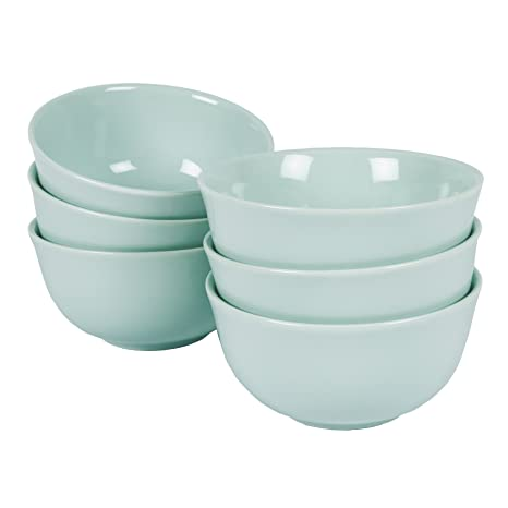 Vajilla rústica Riva verde menta pastel set servicio tazas cuenco muesli plato Shabby Chic