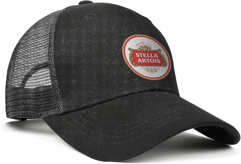 Unisex Beer Stella Artois Hat Adjustable Fitted Dad Baseball Cap Trucker Hat Cowboy Hat