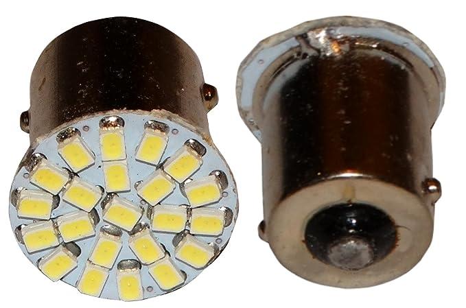 2 x Bombillas P21W R5W R10W 12V 6LED SMD blanco con efecto Xenon base de 1156 AERZETIX