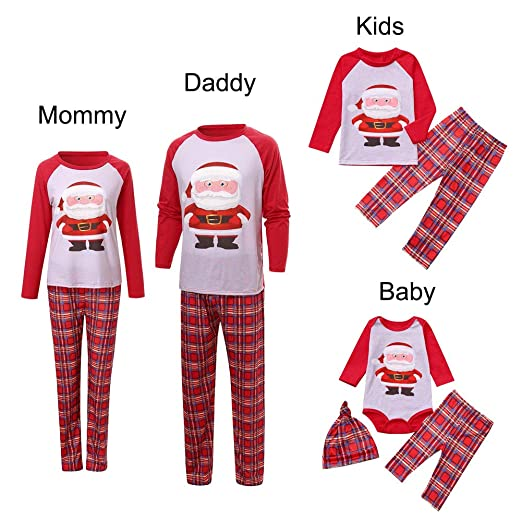 9166fddfcd GzxtLTX Daddy Mommy and Me Christmas Santa Claus Printed Family Matching  Pajama Set Sleepwear (2