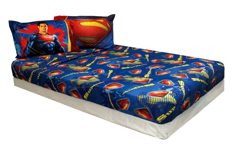 Twin Size Superman Man of Steel Bed Sheet Set