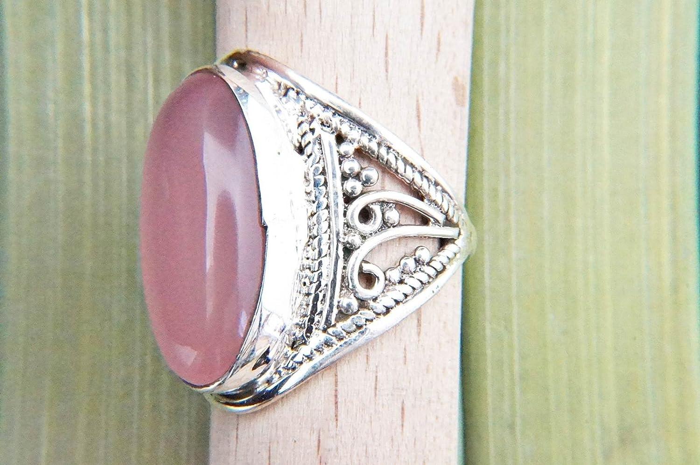 Quartz Rose Femmes Bijoux 925 Sterling Silver Ring Taille 6 lN90873