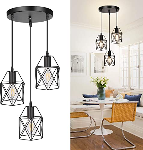 3-Light Industrial Pendant Light