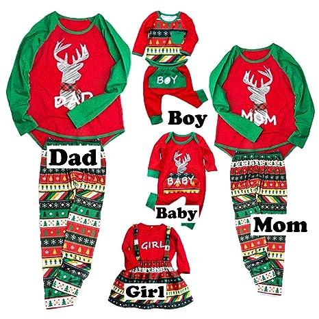1e6dc0b65032 Christmas Family Pajamas Pjs for Women Men Kids Baby 3t Footie Boys Ladies Sets  t hue