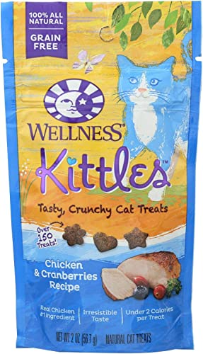Kittles Chicken and Cranberries Recipe Cat Treats, 2 Ounce — 14 per case.