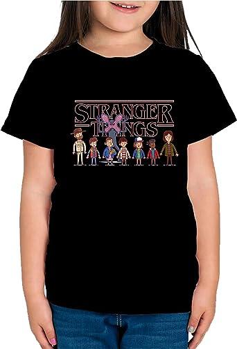 Camiseta de NIÑAS Stranger Things Once Series Retro 80 Eleven Will 043: Amazon.es: Ropa y accesorios
