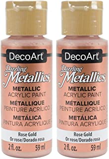product image for 2-Pack - DecoArt Dazzling Metallics Acrylic Colors - Rose Gold, 2-Ounces Each
