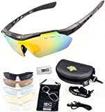 FreeMaster - Gafas de ciclismo con lentes polarizadas, gafas de sol para deporte, antiniebla, protección UV400, para conducir motocicletas, bicicletas de montaña, senderismo