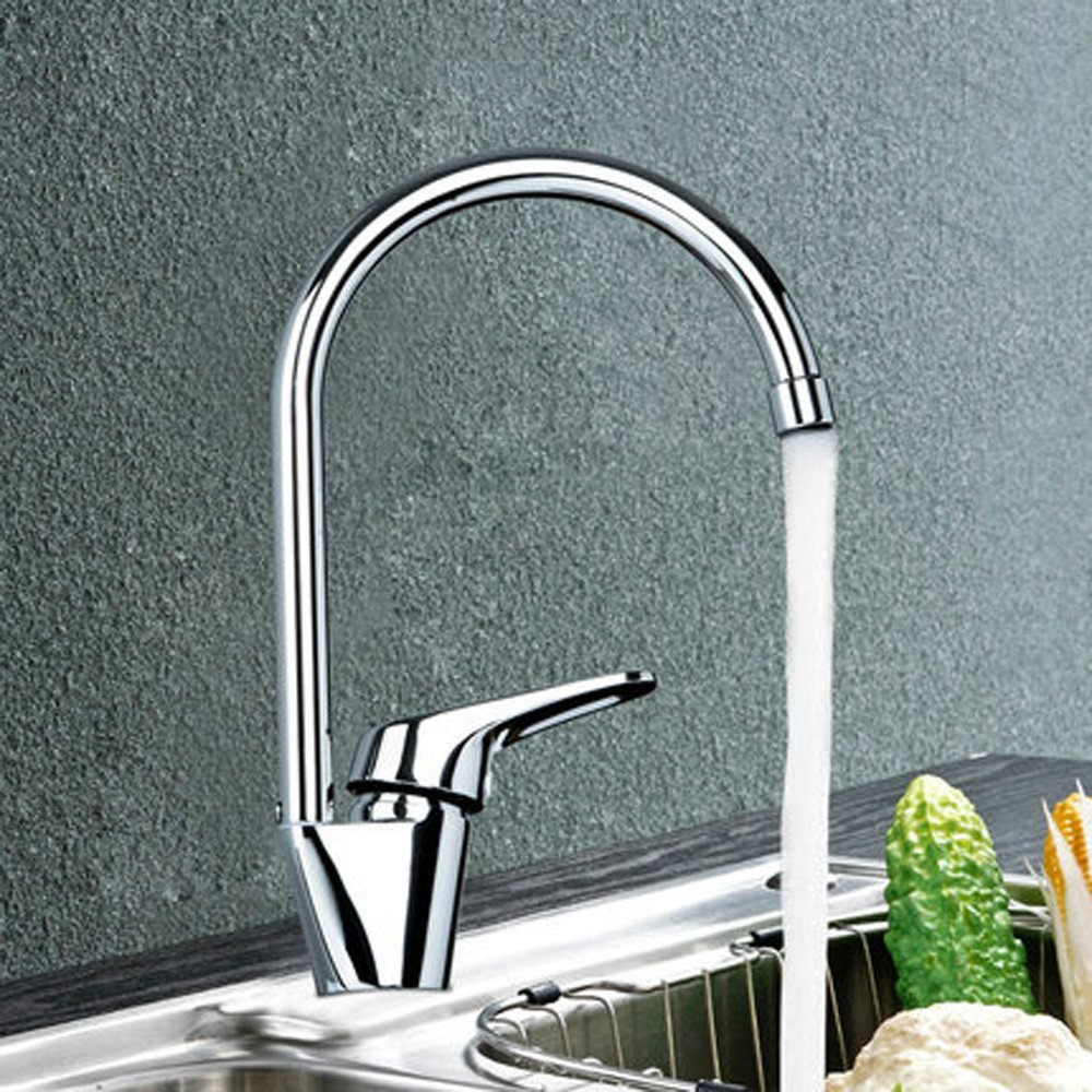 Commercial Single Lever Pull Down Kitchen Sink Faucet Brass Constructed Polished 360 Degree redatable Kitchen Hot and Cold Water Faucet Full Copper Sink Faucet