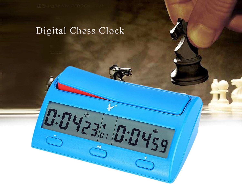 CHSEEA Reloj Digital de ajedrez Temporizador de Junta Juego Cuenta ...