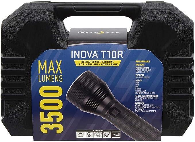White LED Black Nite Ize T3-MP Inova Tactical LED Flashlight 165 Lumens
