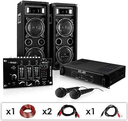 """Equipo """"DJ 24M"""". Altavoces, ampli, mesa mezclas: Amazon.es ..."""
