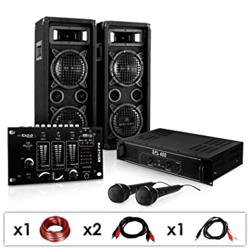 DJ-24M Karaoke-Komplett-PA-Set tolle Party-Musikanlage mit DJ-Mixer ... 1bf8c549edfd9
