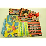 DENNIS THE MENACE FROM THE BEANO COMIC KIDS BIKE ACCESSORY PACK; BAG, ARM BANDS, HORN, CLICKERS