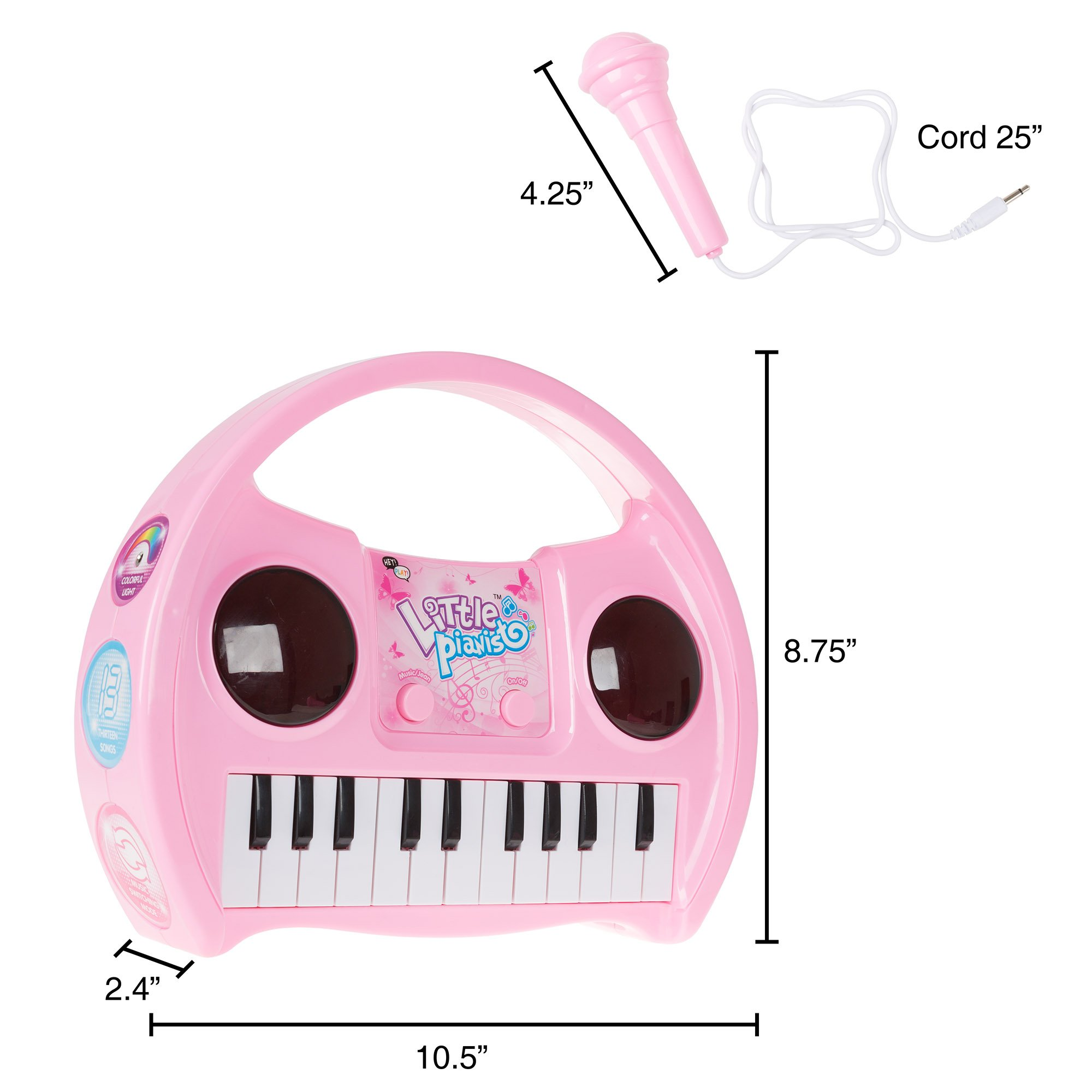 Kids Karaoke Machine with Microphone, Includes Musical Keyboard & Lights - Battery Operated Portable Singing Machine for Boys and Girls by Hey! Play! by Hey!Play! (Image #1)