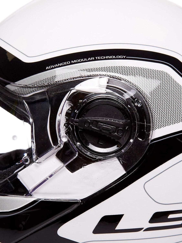 LS2 Casco convertibile flip-up Moto 2019 FF325 Strobe Civik-Bianco-Nero
