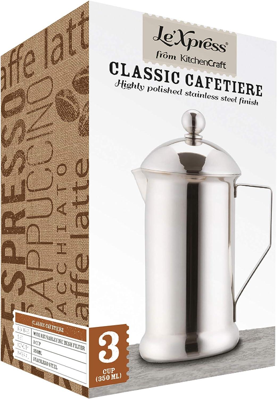 Kitchen Craft LeXpress - Cafetera de Acero Inoxidable (8 Tazas, 1 ...