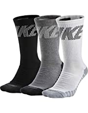 Nike U NK Everyday MAX Cush Crew 3P - Calcetines, Unisex Adulto