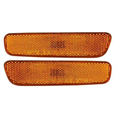 Driver and Passenger Front Signal Side Marker Lights Lamps Replacement for Lexus SUV 81740-48010 81730-48010 AutoAndArt: Automotive