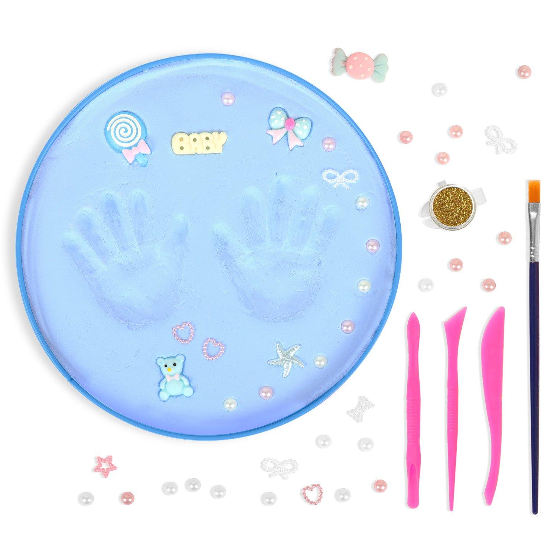 TTMOW Baby Handprint /& Footprint Keepsake Kit for Boy Blue Color,Baby Decor Gift for Shower Registry for Boys