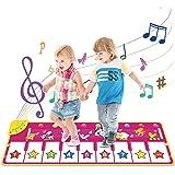 Vimzone Tapete para Piano, Alfombra Musical Tapete de Baile Música Teclado Tapete con 9 Teclas y 8 Sonido de Animales…
