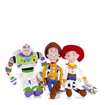Posh Paws Disney Toy Story Buzz, Woody y Jessie 8 Set Inch Plush