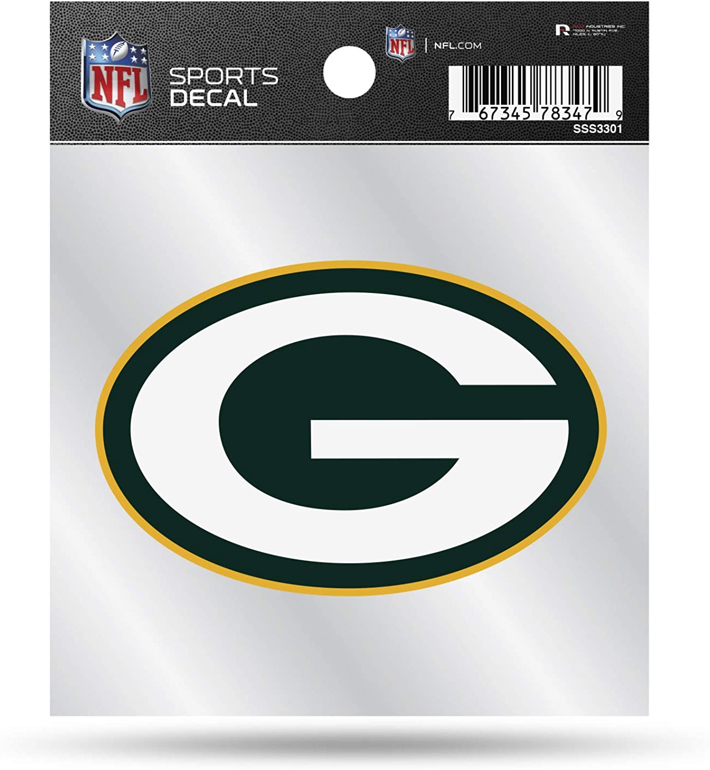 NFL Green Bay Packers Primary Logo 4x4 Decal, Team Color, Size of individual decal will vary
