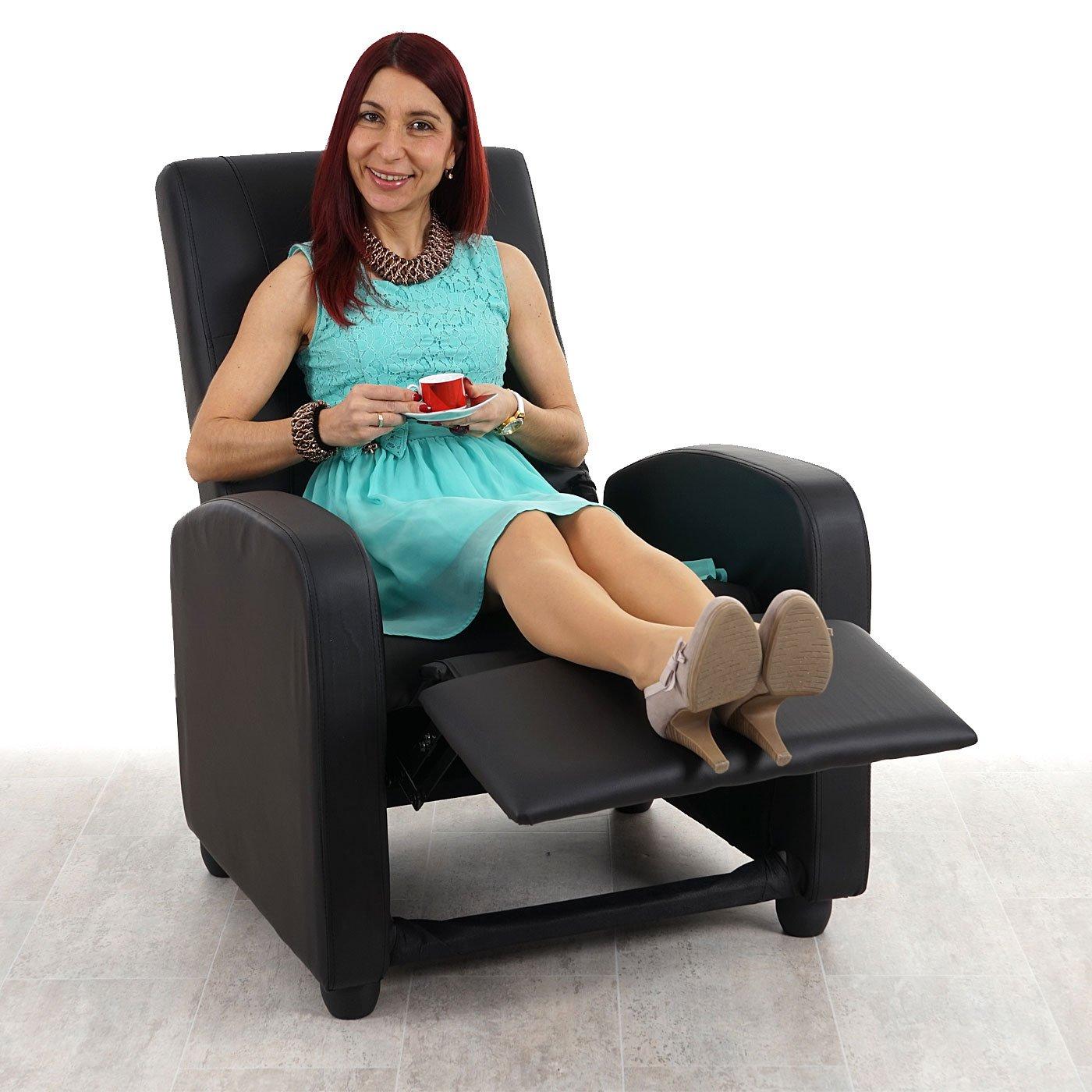 Mendler Fernsehsessel Denver Basic, Relaxsessel Relaxliege Sessel, Kunstleder Kunstleder Kunstleder  schwarz ed7fdf