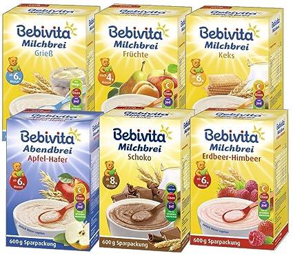 Bebivita avena - Mezclar 6 variedades: sémola, fruta, galletas, chocolate, fresa