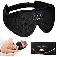 MUSICOZY Sleep Headphones Bluetooth Wireless Sleeping Eye Mask, Office Travel Unisex Gifts Men Women Who Have Everything…