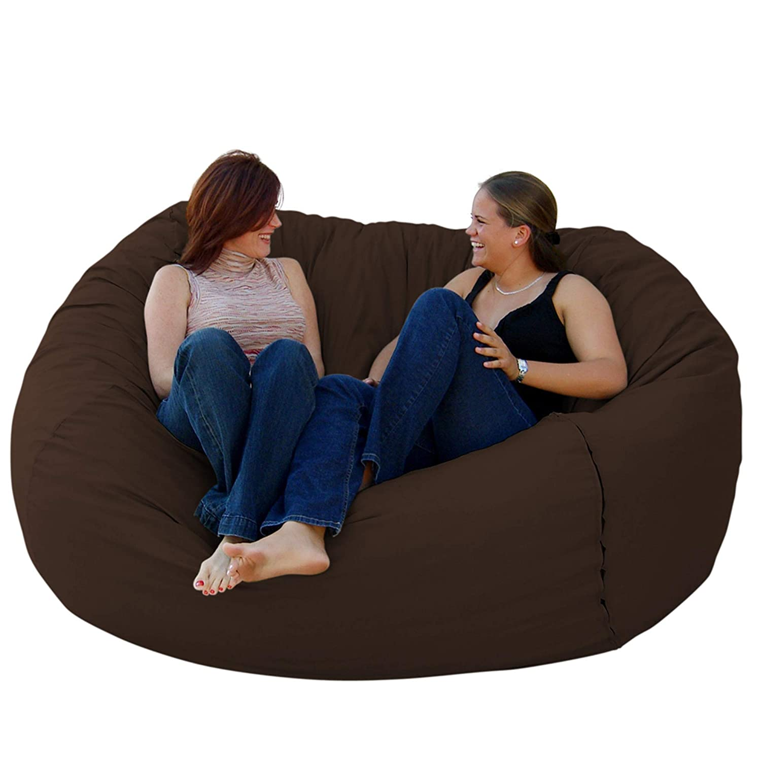 Amazon Com Cozy Sack 6 Feet Bean Bag Chair Large Chocolate Kitchen Dining