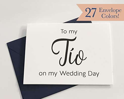 Wedding Day Card WC130-SW To My Tio//Uncle On My Wedding Day
