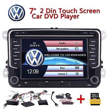 "7"" Stereo 2Din Coches Reproductor de DVD de Radio RDS GPS Navi Bluetooth t¨"