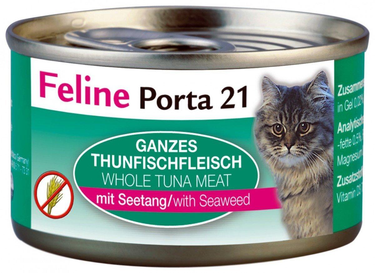 FELINE Porta 21 | Duran de atún Carne con Algas | 24 x 90 g: Amazon.es: Productos para mascotas
