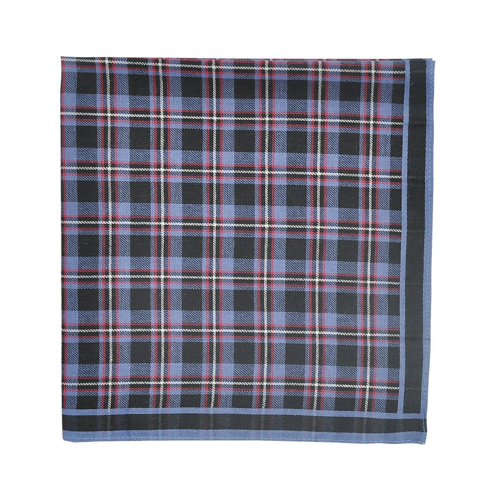 Mens Handkerchiefs Pure Cotton Classic Plaid Hankies 6 Pieces Set