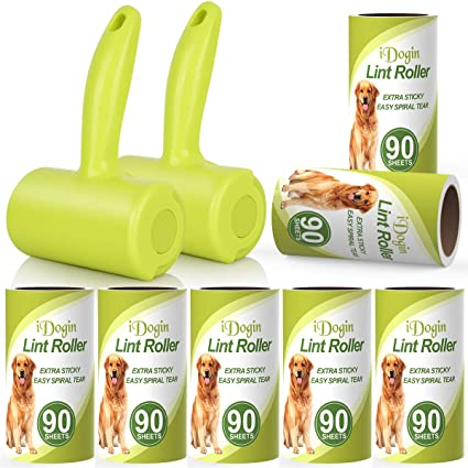 PetLovers Extra Sticky Lint Roller Set 300 Sheets Total with Mini Lint Roller and 2 90 Sheet Refills Best for Pet Hair Removal and Dog and Cat Lint Remover Pet Lint Roller with Durable Handle