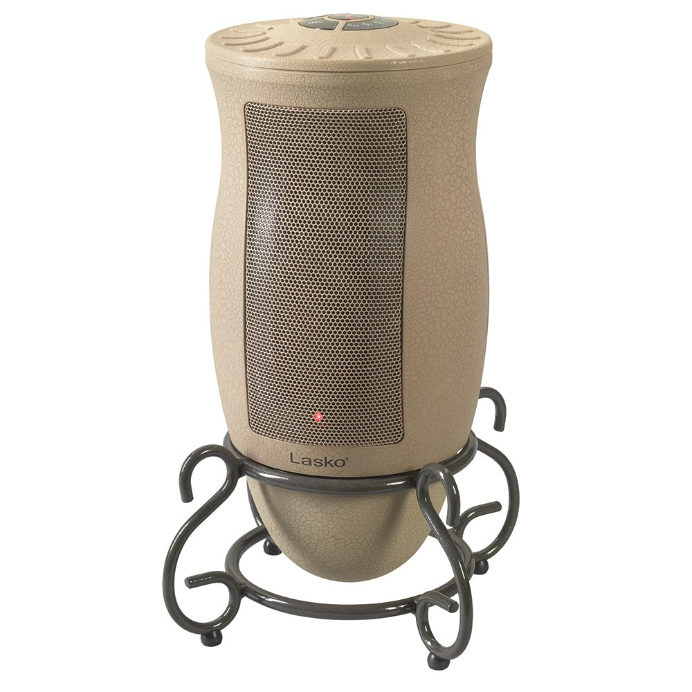 Lasko Designer Series Ceramic Space Heater-Features Oscillation, Remote, and Built-in Timer Tan