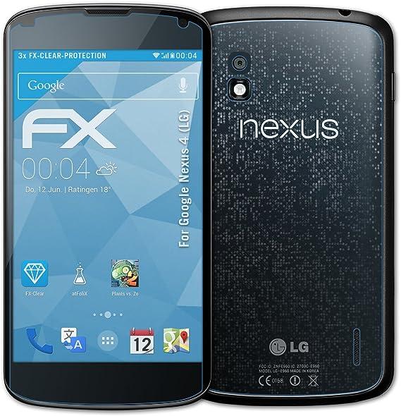 Atfolix FX-Clear - Protectores de pantalla para Google Nexus 4 LG ...