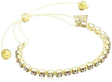 710bd1b8140c Guess - UBB71253 - Bracelet Cordon Femme - Métal doré - Cristal Swarovski - 18  cm