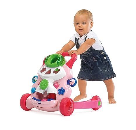 ChiCco Steps - Andador para bebé, color rosa: Amazon.es: Bebé