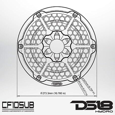 Amazon Com Ds18 Cf10sub Black 10 Inch 10 Hydro Marineatvutv