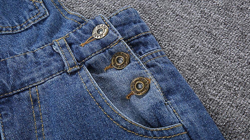 Ragazza Salopette Jeans Denim Jean Pantaloni Bib Tuta Outfit Denim Completino Dungarees